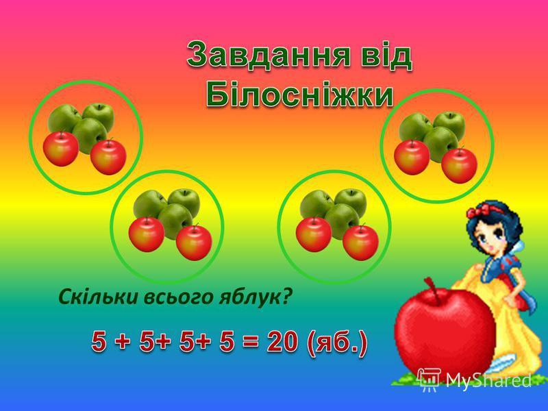 Скільки всього яблук?