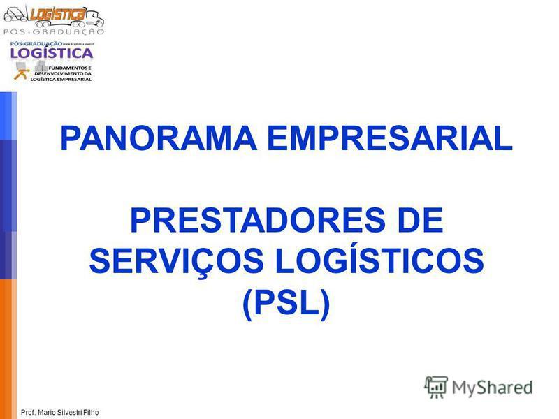 Prof. Mario Silvestri Filho PANORAMA EMPRESARIAL PRESTADORES DE SERVIÇOS LOGÍSTICOS (PSL)