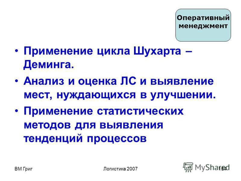 ВМ Григ Логистика 2007153 Цели Задачи Определение последовательности, взаимодействия и взаимовлияния процессов в рамках системы.Определение последовательности, взаимодействия и взаимовлияния процессов в рамках системы. Обеспечение всеми видами ресурс