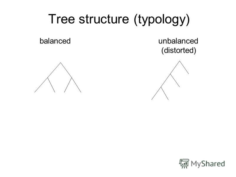 Tree structure (typology) balanced unbalanced (distorted)