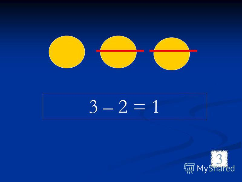 3 – 2 = 1