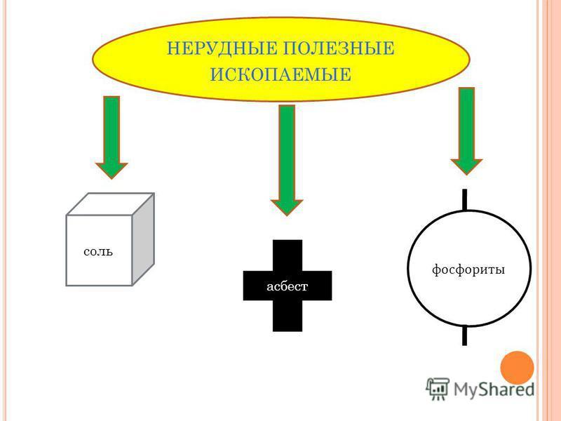 НЕРУДНЫЕ ПОЛЕЗНЫЕ ИСКОПАЕМЫЕ соль асбест фосфориты