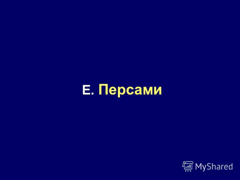 E. Персами