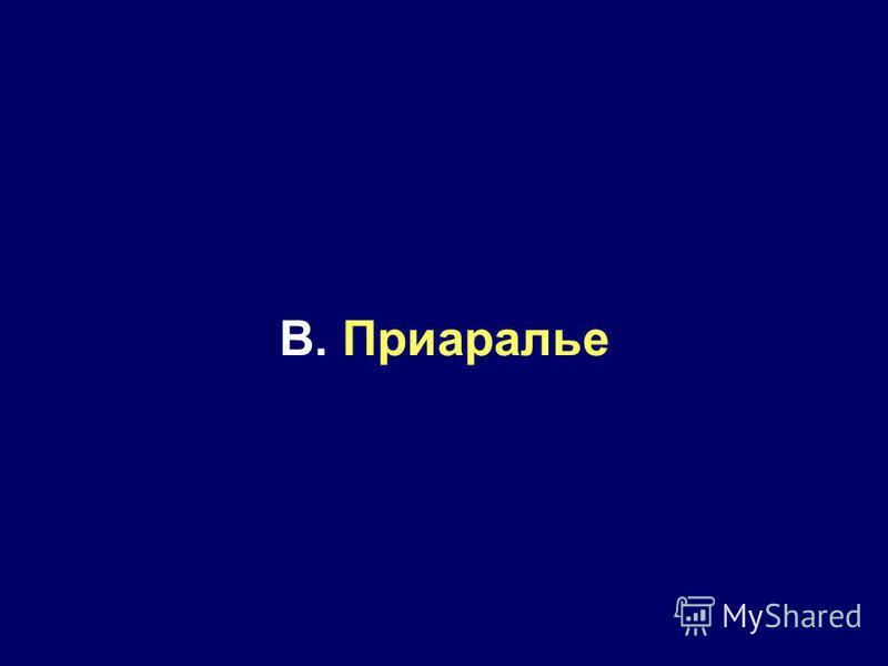 B. Приаралье