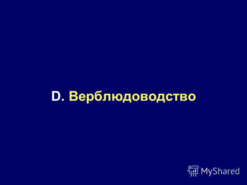 D. Верблюдоводство