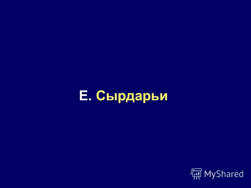 E. Сырдарьи