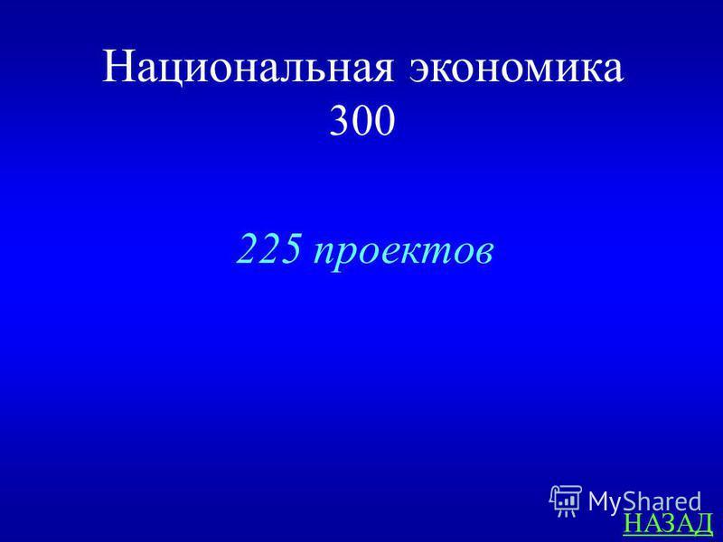 Национальная экономика 300 ОТВЕТ Сколько проектов одобрено за два года реализации программы «Дорожная карта бизнеса-2020»