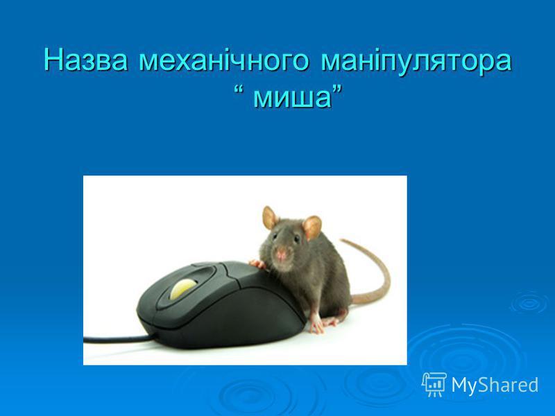 Назва механічного маніпулятора миша