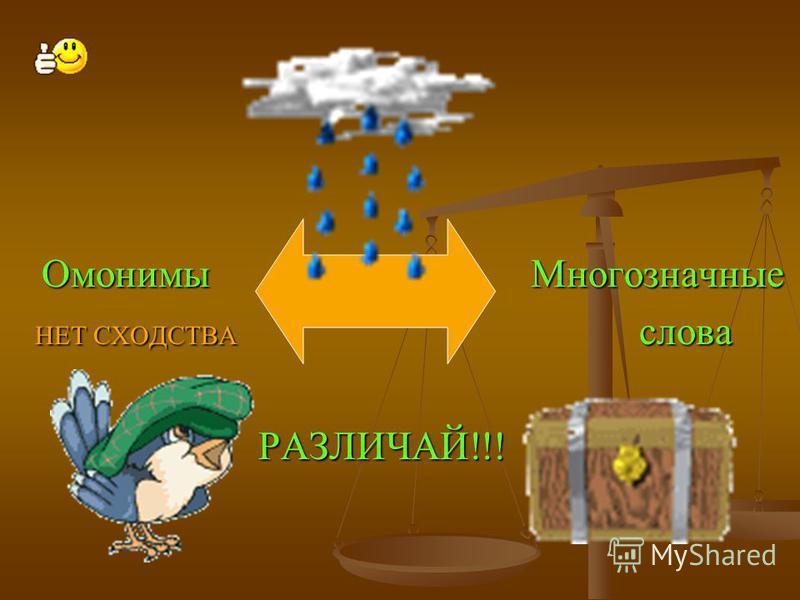 Омонимы – слова одной и той же части речи, одинаковые по звучанию и написанию, но совершенно разные по значению