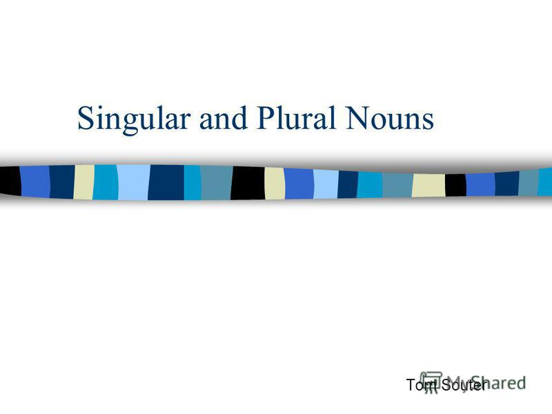 Singular and Plural Nouns Tom Souter