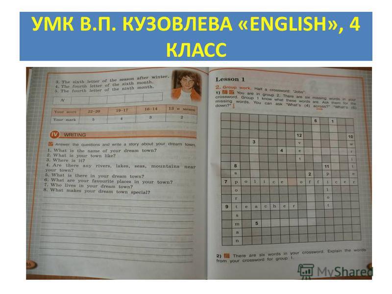 УМК В.П. КУЗОВЛЕВА «ENGLISH», 4 КЛАСС