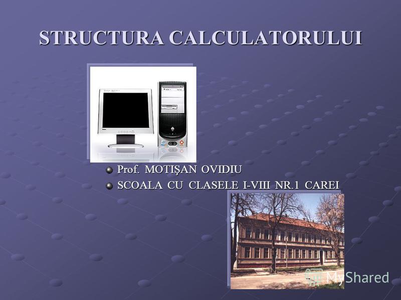 STRUCTURA CALCULATORULUI Prof. MOTIŞAN OVIDIU SCOALA CU CLASELE I-VIII NR.1 CAREI