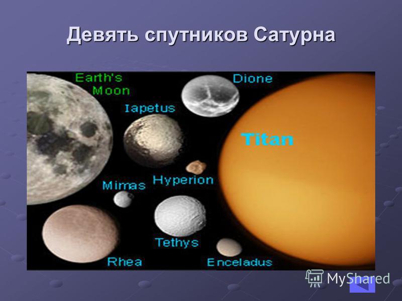 Девять спутников Сатурна