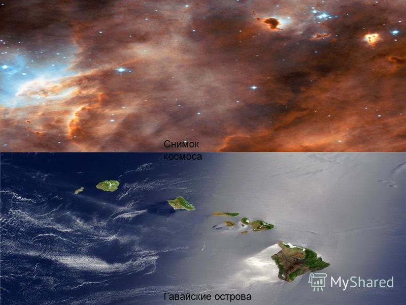 Снимок космоса Гавайские острова