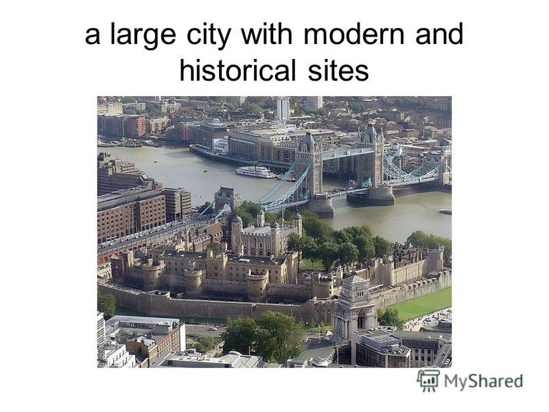 a large city with modern and historical sites