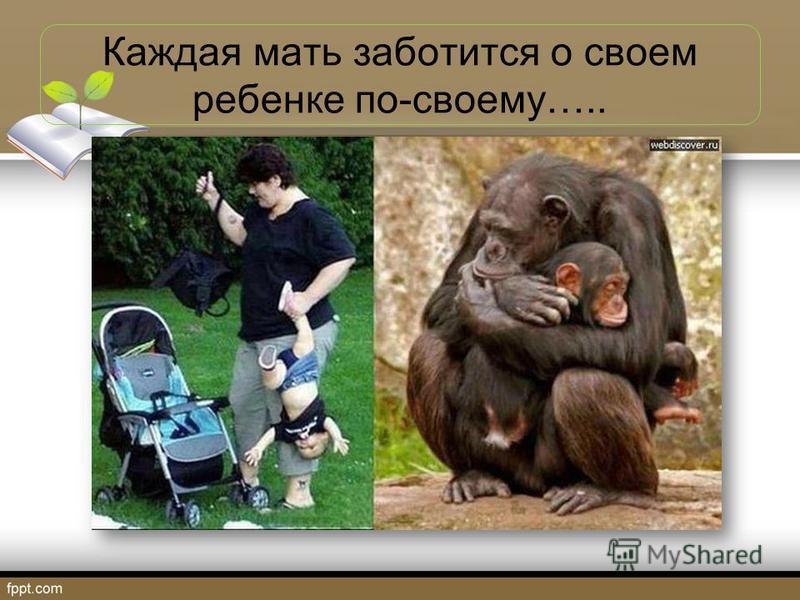 Каждая мать заботится о своем ребенке по-своему…..