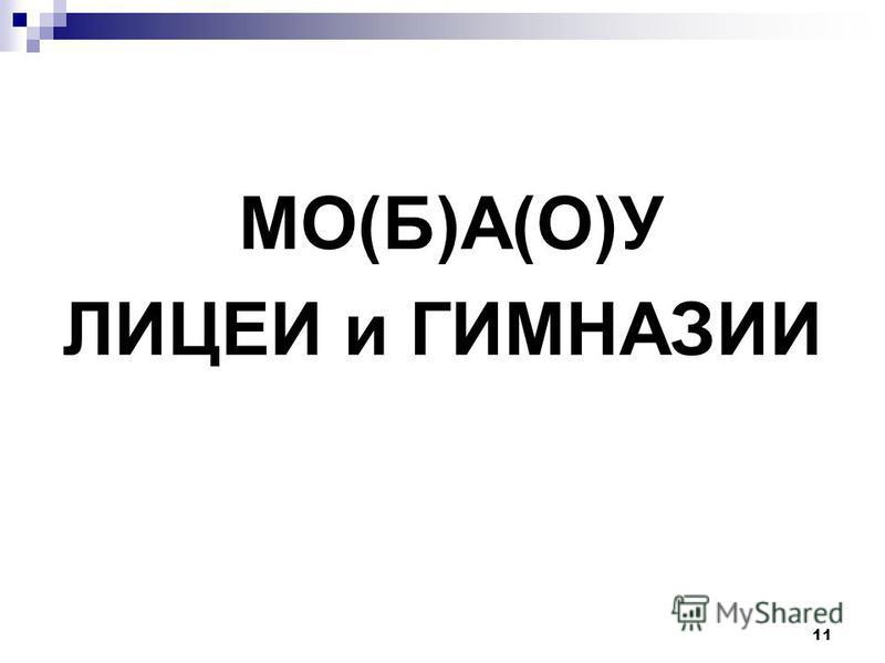МО(Б)А(О)У ЛИЦЕИ и ГИМНАЗИИ 11