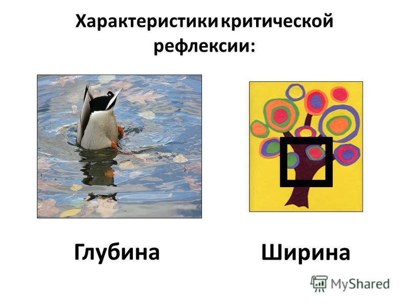 Характеристики критической рефлексии: Глубина Ширина