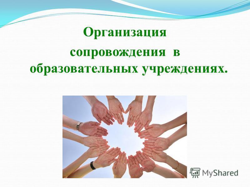 Организация сопровождения в образовательных учреждениях.