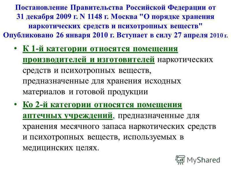 Постановление Правительства Российской Федерации от 31 декабря 2009 г. N 1148 г. Москва