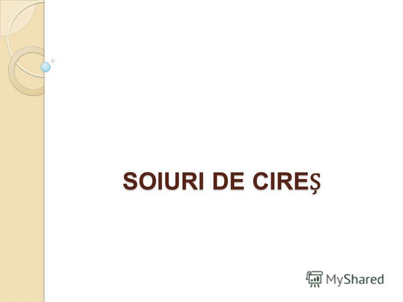 SOIURI DE CIRE