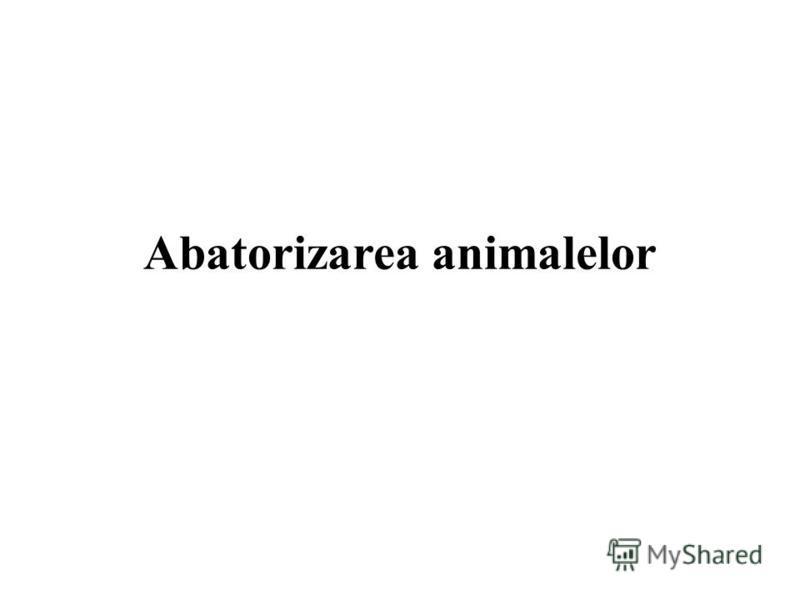 Abatorizarea animalelor