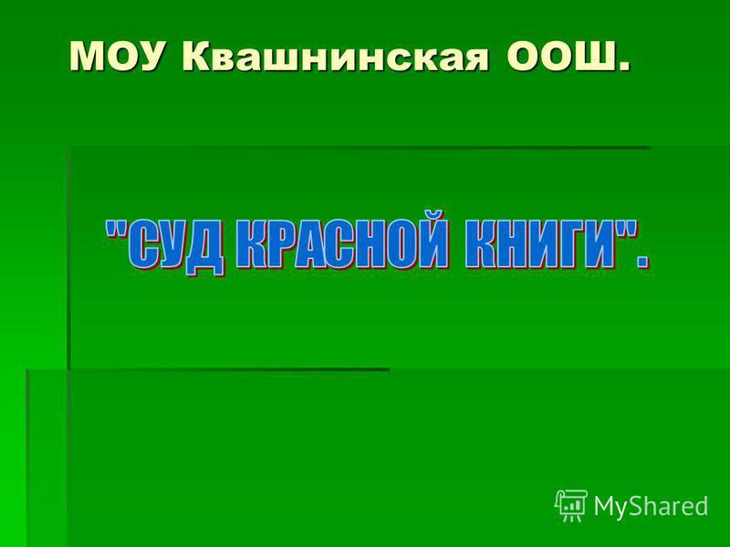 МОУ Квашнинская ООШ.
