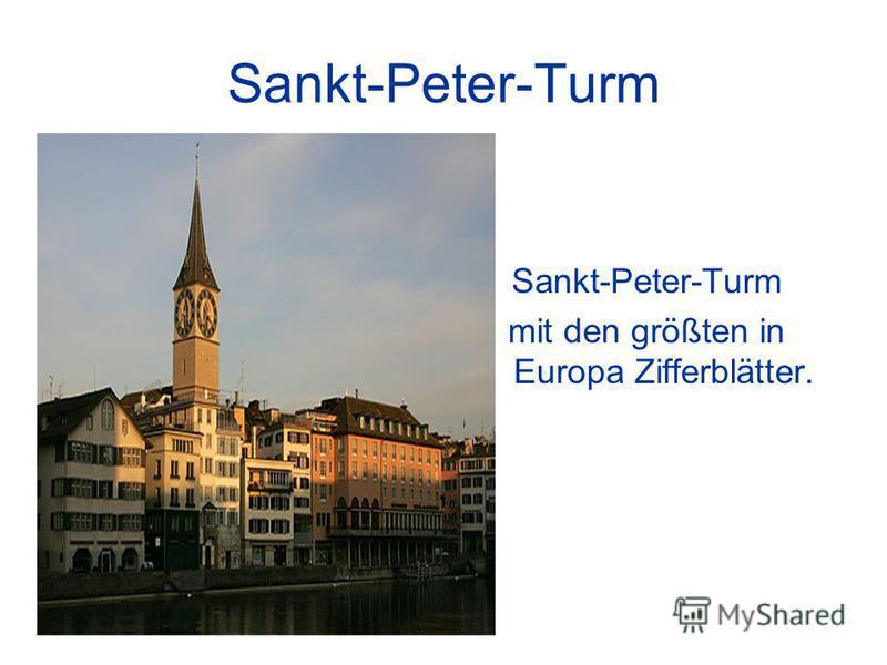 Sankt-Peter-Turm mit den größten in Europa Zifferblätter.