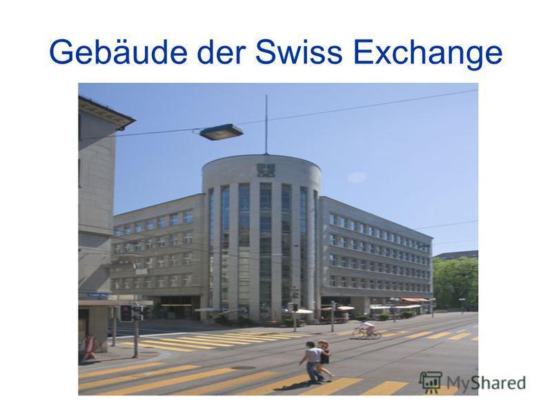 Gebäude der Swiss Exchange