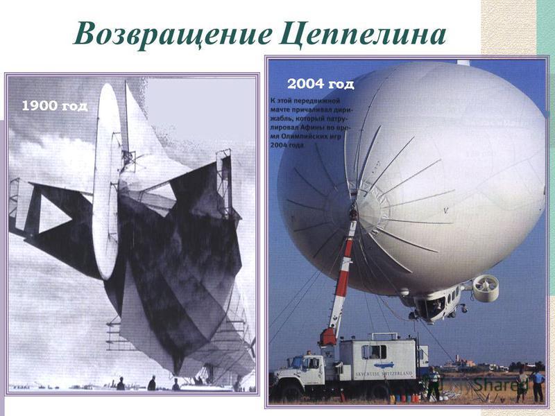 Возвращение Цеппелина 1900 год 2004 год