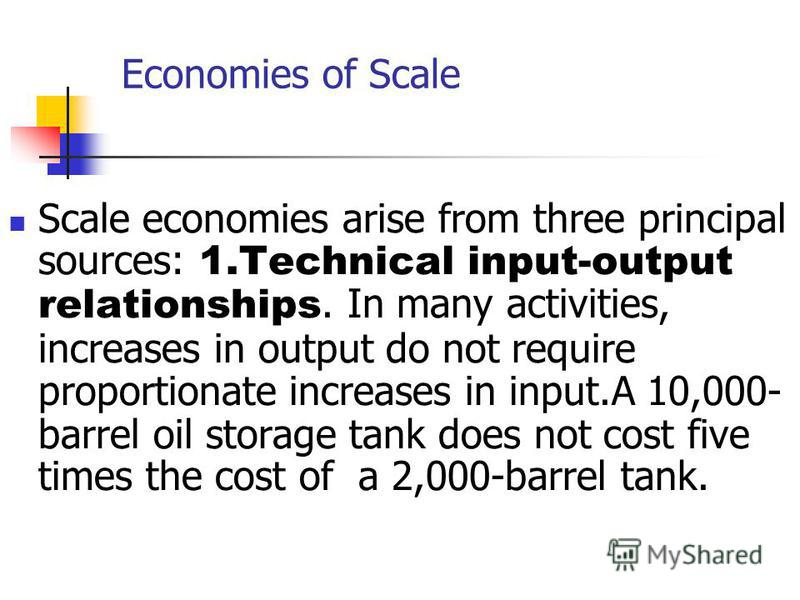 how do the economies of scale In microeconomics, economies of scale are the cost advantages that enterprises  obtain due to.