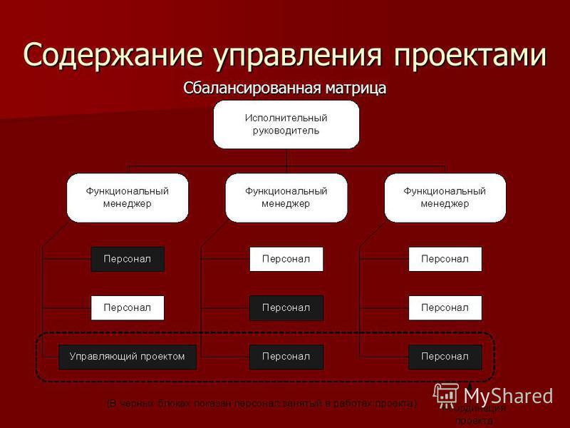 Содержание управления проектами Сбалансированная матрица