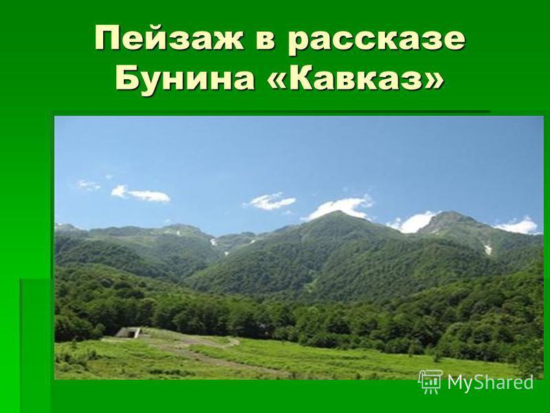 Пейзаж в рассказе Бунина «Кавказ»