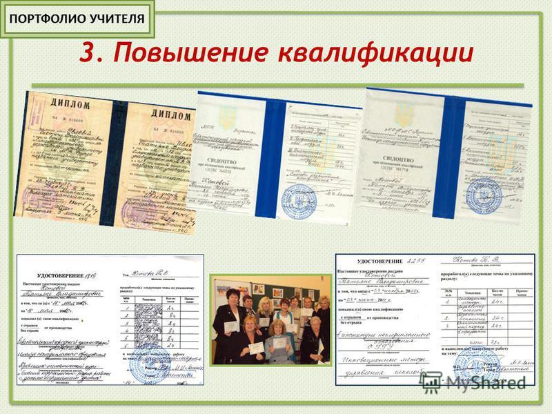 3. Повышение квалификации