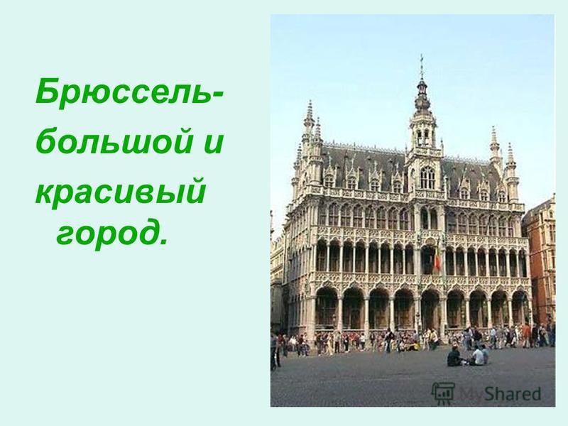 Брюссель- большой и красивый город.