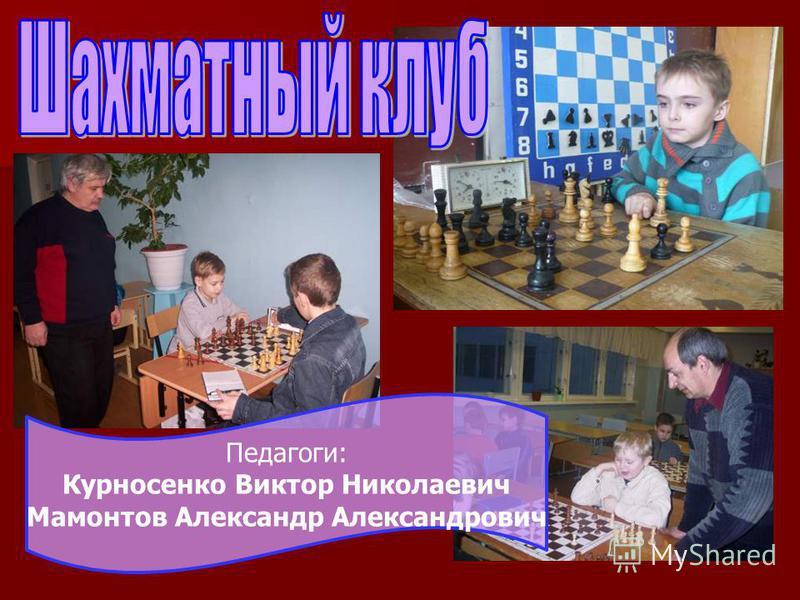 Педагоги: Курносенко Виктор Николаевич Мамонтов Александр Александрович