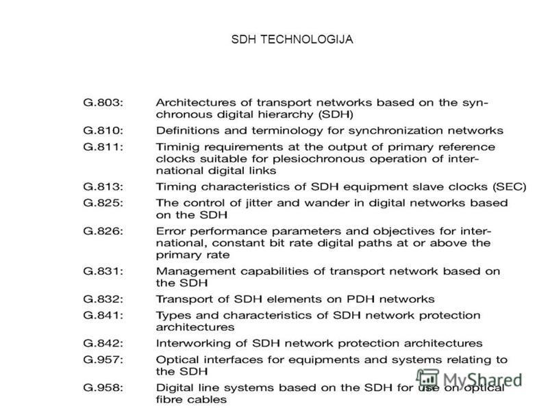 135 SDH TECHNOLOGIJA