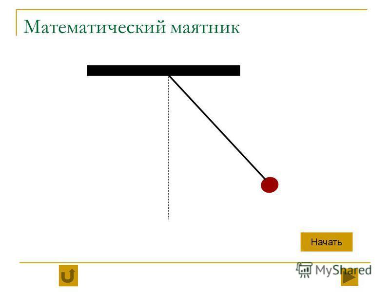 Математический маятник Начать