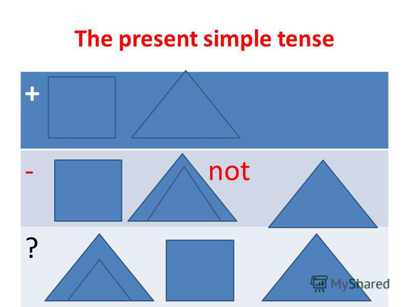 The present simple tense + - not ?