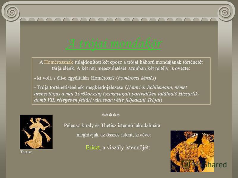 A görög irodalom első nagy műfaja, a hősi eposz a mükénéi- archaikus korszak átmeneti időszakában született. Az eposz hősköltemény, amelynek szereplői rendkívüli tulajdonsággal rendelkező hősök, istenek vagy félistenek. Sajátos szerkezete fokozatosan