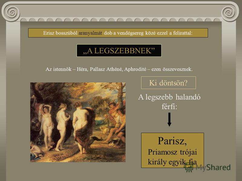 A trójai mondakör A Homérosznak tulajdonított két eposz a trójai háború mondájának történetét tárja elénk. A két mű megszületését azonban két rejtély is övezte: - ki volt, s élt-e egyáltalán Homérosz? (homéroszi kérdés) - Trója történetiségének megké