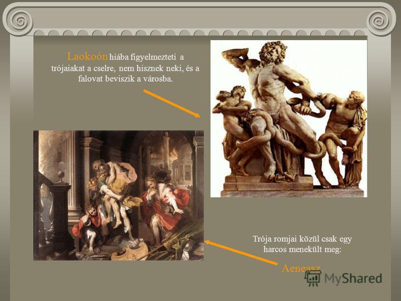 A görögök kilenc évig eredménytelenül ostromolják Tróját. Elesik Hektór, a trójaiak, majd Akhilleusz, a görögök legnagyobb hőse is. A görögök végül csellel veszik be a várost, Odüsszeusz tanácsára hatalmas falovat készítenek ajándékként, amelyben elr