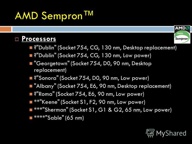 AMD Sempron Processors ?