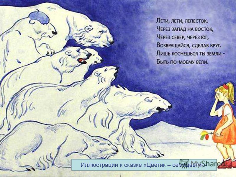 Иллюстрации к сказке «Цветик – семицветик»