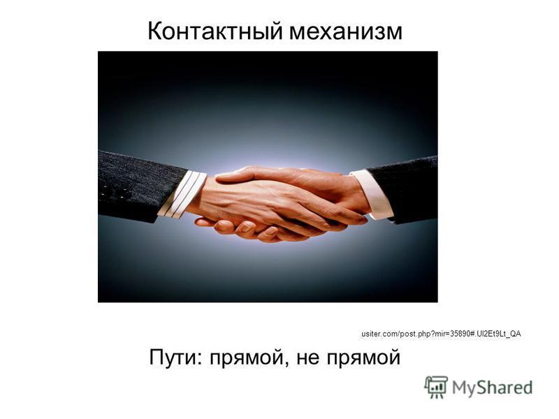 Контактный механизм usiter.com/post.php?mir=35890#.Ul2Et9Lt_QA Пути: прямой, не прямой