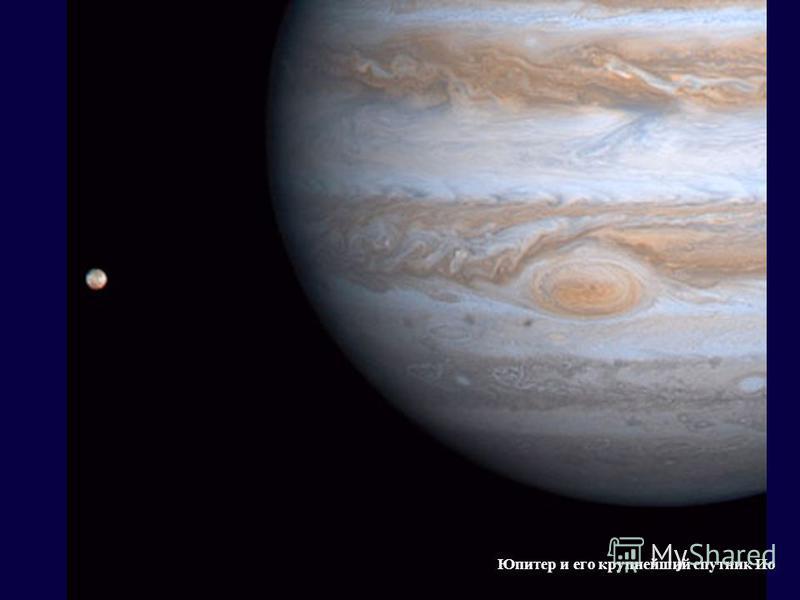 Юпитер и его крупнейший спутник Ио