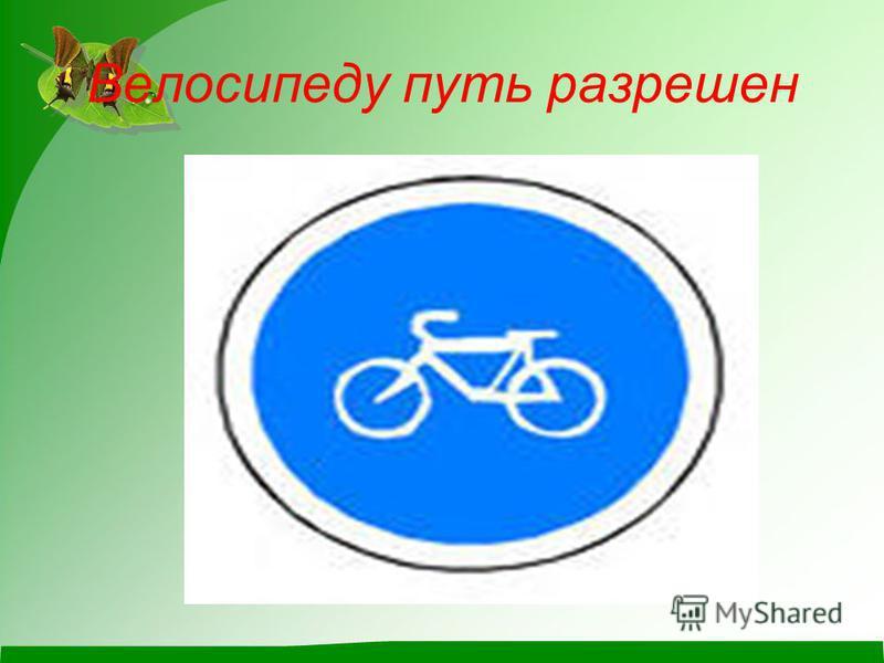 Велосипеду путь разрешен