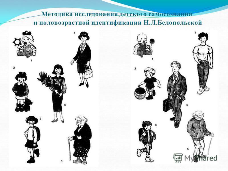Методика исследования детского самосознания и половозрастной идентификации Н.Л.Белопольской