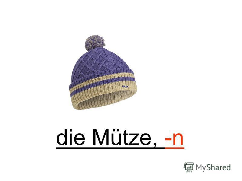 die Mütze, -n