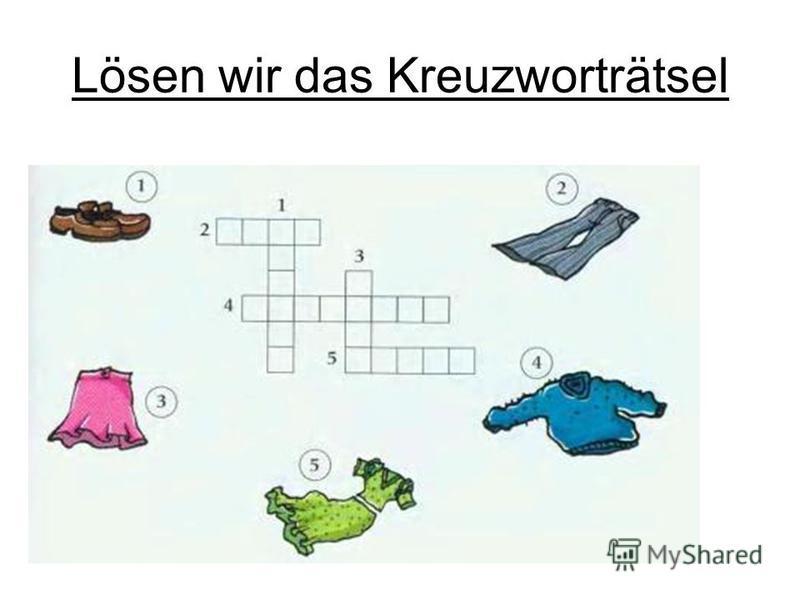 Lösen wir das Kreuzworträtsel